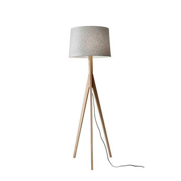 Adesso 59.25 in. Beige Eden Floor Lamp - Home Depot