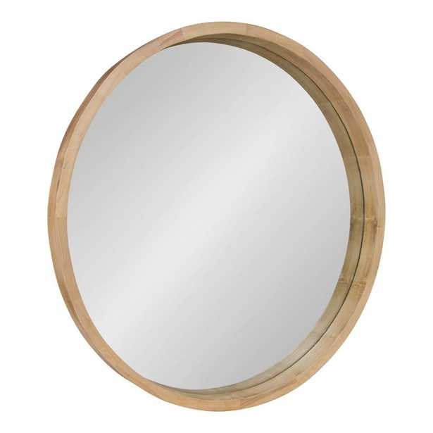 Hutton Round Natural Wall Mirror - Home Depot