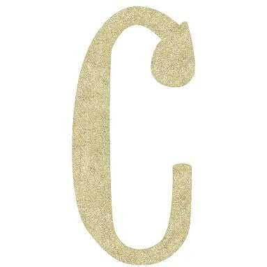 Camille Wall Letters, Gold Glitter, C - Pottery Barn Teen