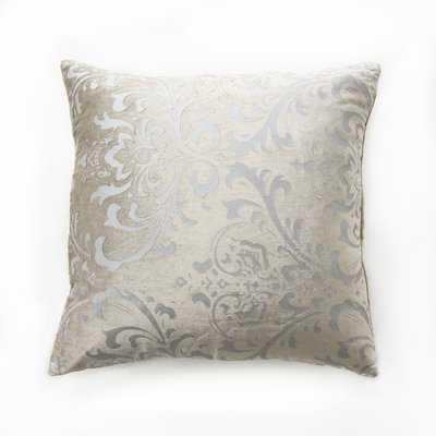 Bucoli Damask Pillow Cover, Beige - Wayfair