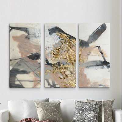 A Premium 'Golden Blush I' Print Multi-Piece Image on Canvas - Wayfair
