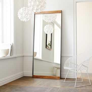 Industrial Floor Mirror, Mango Wood - West Elm