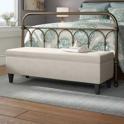 Potrero Fabric Storage Bench - Wayfair