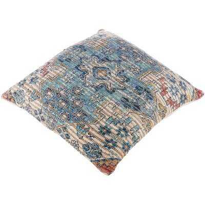 Wilmont Bohemian/Global 26 X 26 Aqua, Bright Blue Pillow Cover - Wayfair