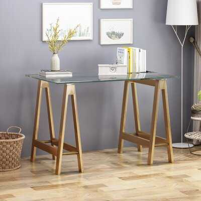 Cardwell Glass Desk - Wayfair