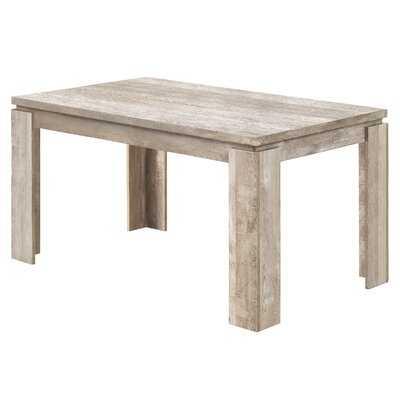 """Dining Table - 36""""X 60"""" / Brown Reclaimed Wood-Look - Wayfair"""