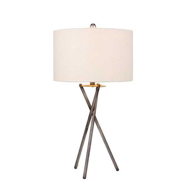 Fangio Lighting Modern 31 in. Rust Black Tripod Metal Table Lamp - Home Depot