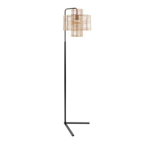 Silverwood Furniture Reimagined Cyndi 70 in. Black and Tan Hangover Floor Lamp - Home Depot