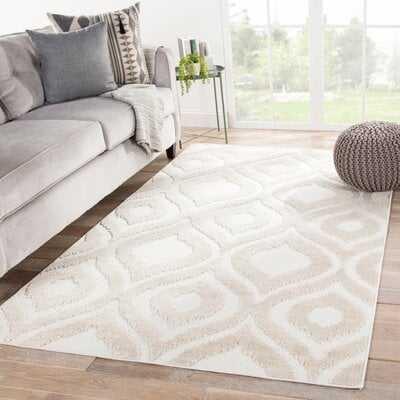 Ezzine Trellis Beige/White Indoor/Outdoor Area Rug - Wayfair
