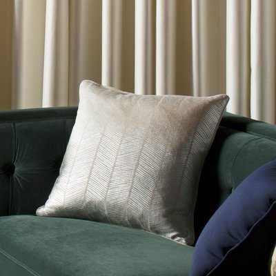 Calista Herringbone 100% Cotton Throw Pillow - Wayfair