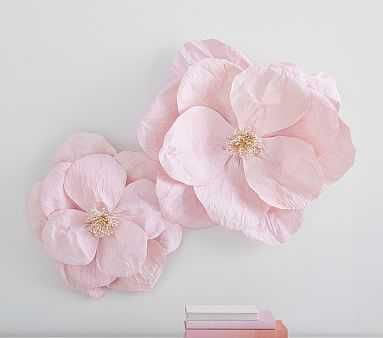 Jumbo Crepe Paper Flowers-set of 2 - Pink - Pottery Barn Kids