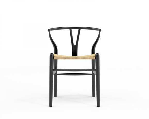 Wishbone Chair - Ebony Natural Seat Cord - Rove Concepts