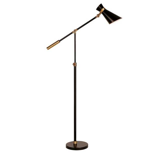 Hudson&Canal Pixar 65-1/2 in. Floor Lamp in Black and Brass - Home Depot