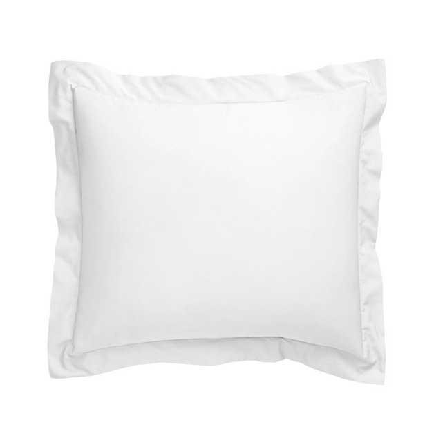 Company Cotton White Percale Euro Sham - Home Depot