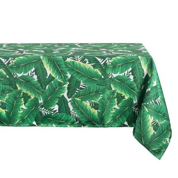 Outdoor 60 in. x 120 in. Banana Leaf Polyester Tablecloth - Home Depot