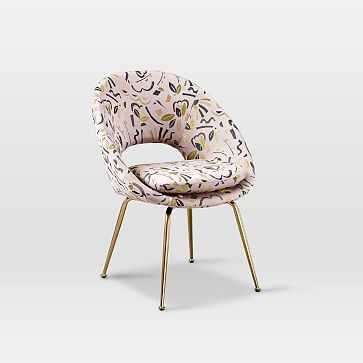 Orb Upholstered Dining Chair, Pop Art Jacquard - West Elm