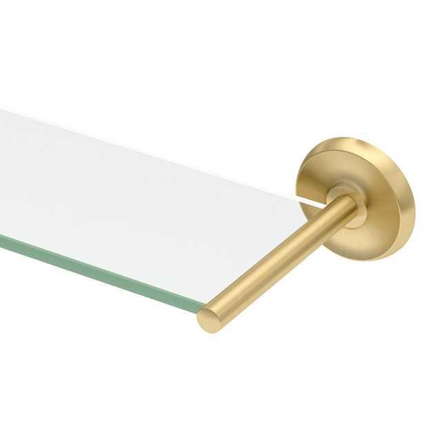 Gatco Designer II 22.5 in. W Glass Shelf in Brushed Brass - Home Depot