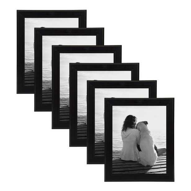 DesignOvation Kieva 8x10 Black Picture Frame (Set of 6) - Home Depot