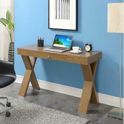 Grovetown Solid Wood Campaign Writing Desk - Wayfair