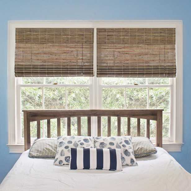 Home Decorators Collection 37 in. W x 72 in. L Driftwood (Brown) Flatweave Bamboo Roman Shade - Home Depot