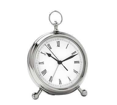 Pocket Watch Clock, Medium, Nickel finish - Pottery Barn