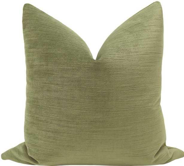 Strie Velvet // Spanish Moss - 20x20 - Little Design Company