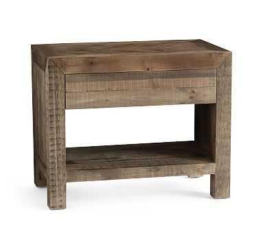 Hensley Reclaimed Wood Nightstand, Weathered Gray - Pottery Barn