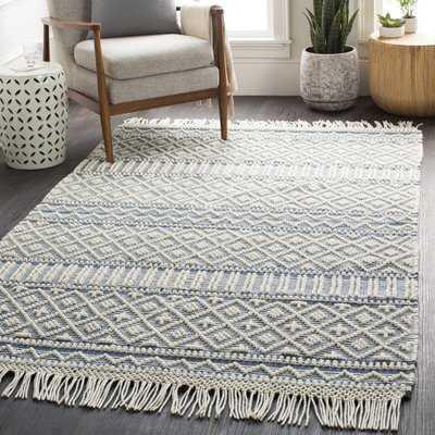 Carletta Hand-Knotted Wool Denim Area Rug 6' x 9' - Wayfair