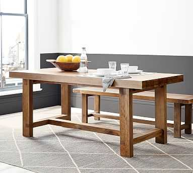 """Reed Extending Dining Table, Antique Umber 73"""" - 97""""L - Pottery Barn"""
