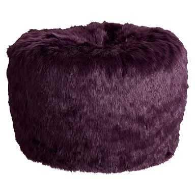 Anna Sui Purple Faux-Fur Beanbag, Slipcover + Insert, Large - Pottery Barn Teen