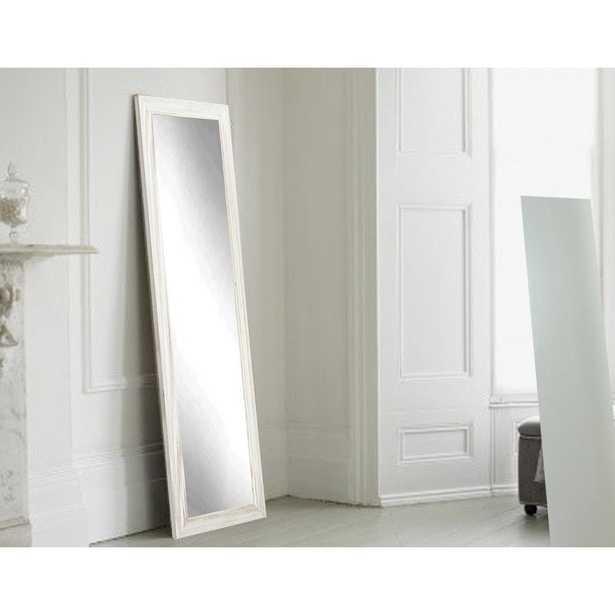 Brandtworks Coastal Whitewood Full Length Framed Mirror - Home Depot