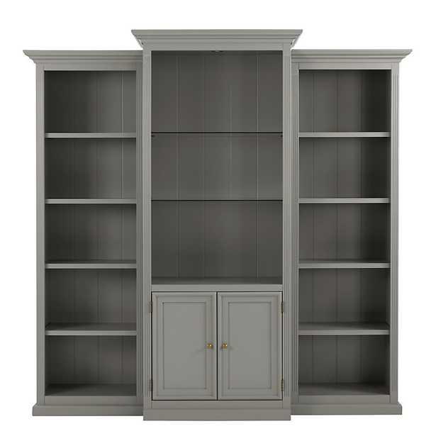 Ballard Designs Tuscan 3 Piece Bookcase with Cabinet - Ballard Designs