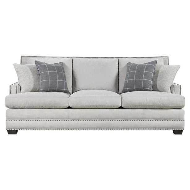 Carianne Modern Classic Grey Upholstered Nailhead Trim Sofa - Kathy Kuo Home