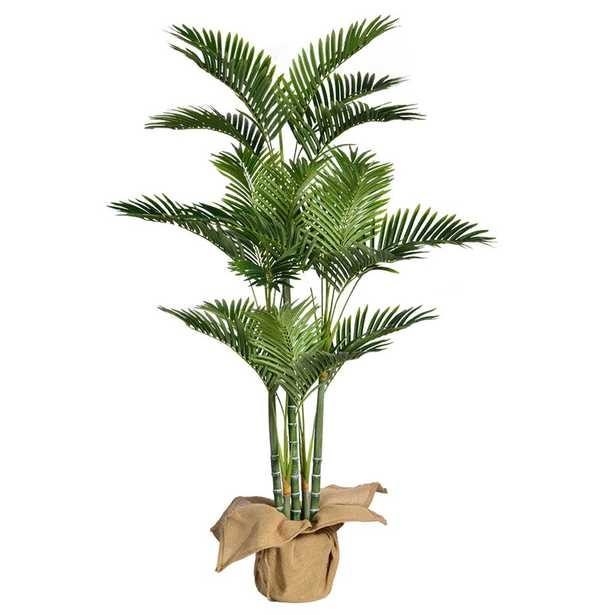 Laura Ashley 60 in.H Palm Tree Artificial Faux Dcor with Burlap Kit - Home Depot