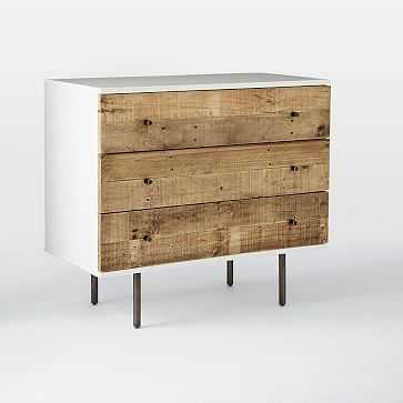 Reclaimed Wood + Lacquer Storage 3-Drawer Dresser, Reclaimed Pine, Gray Wash - West Elm