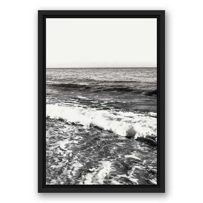 'Black and White Ocean Waves' Photographic Print on Canvas - Wayfair