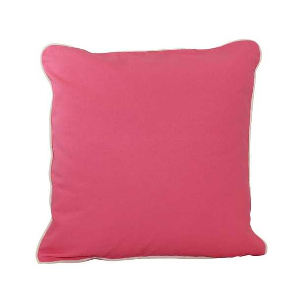 20 in. x 20 in. Coral (Pink) Standard Pillow with Green Eco Friendly Insert - Home Depot