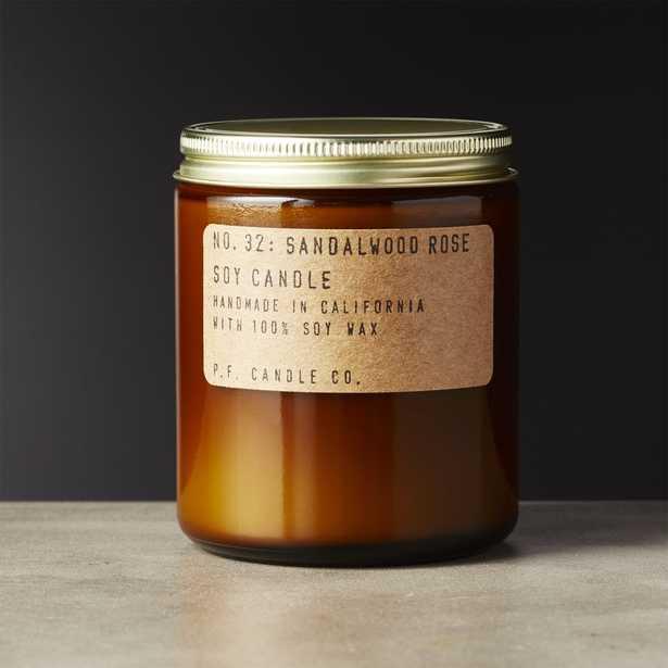 Sandalwood Rose Soy Candle 7.2 oz. - CB2