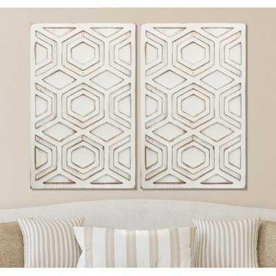 'Distressed Geometric Art' Graphic Art Print on Wood - Wayfair