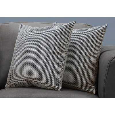 Tangerang Dot Zipper Throw Pillows - Wayfair
