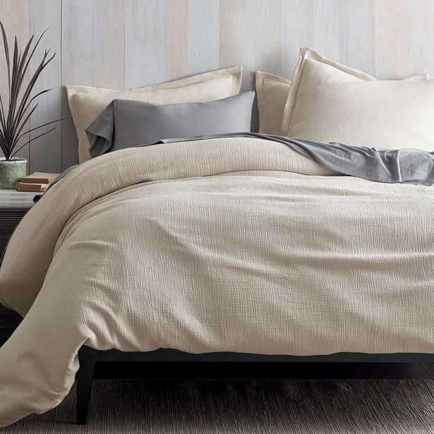 Pryor Organic Cotton Oat (Brown) Solid King Duvet Cover - Home Depot