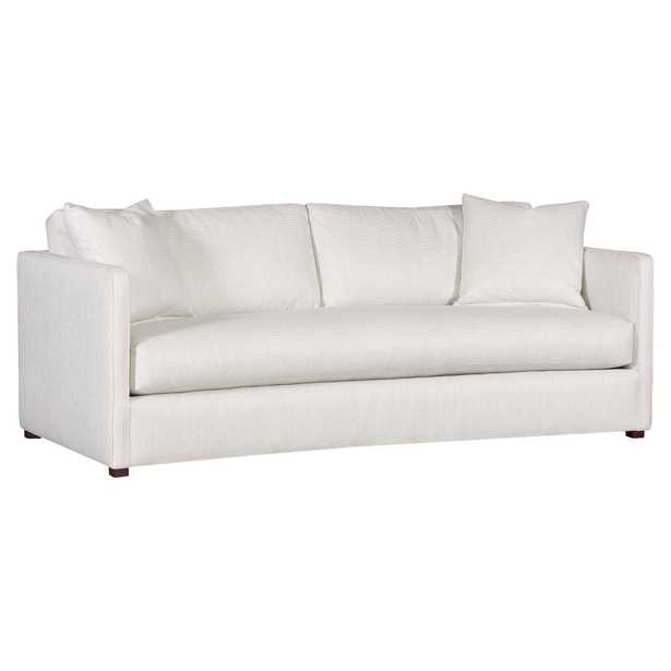 Vanguard Wynne Modern Classic White Upholstered Bench Seat Sofa - Kathy Kuo Home