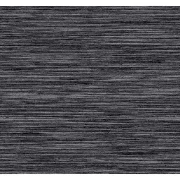 Dazzling Dimensions Shining Sisal Wallpaper, Black - Home Depot