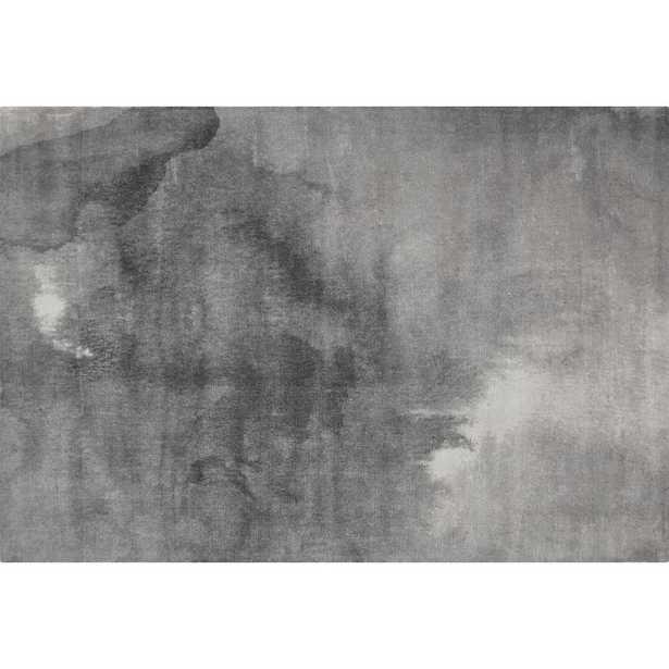 Wash Grey Watercolor Rug 6'x9' - CB2