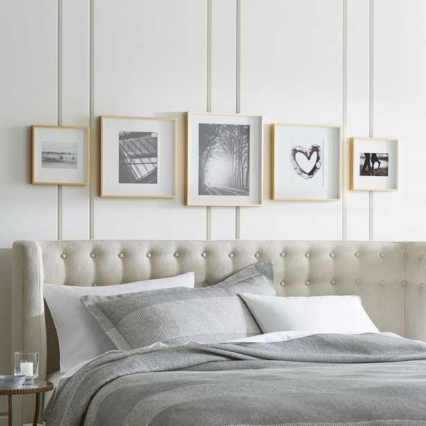 Brushed Brass Picture Frame Gallery, Set of 5 - Crate and Barrel