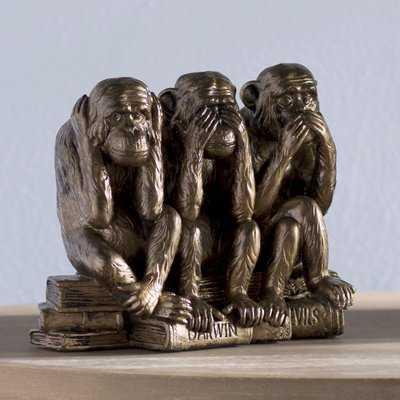 Bronze Carraway See, Hear, Speak No Evil Monkey Trio - Wayfair