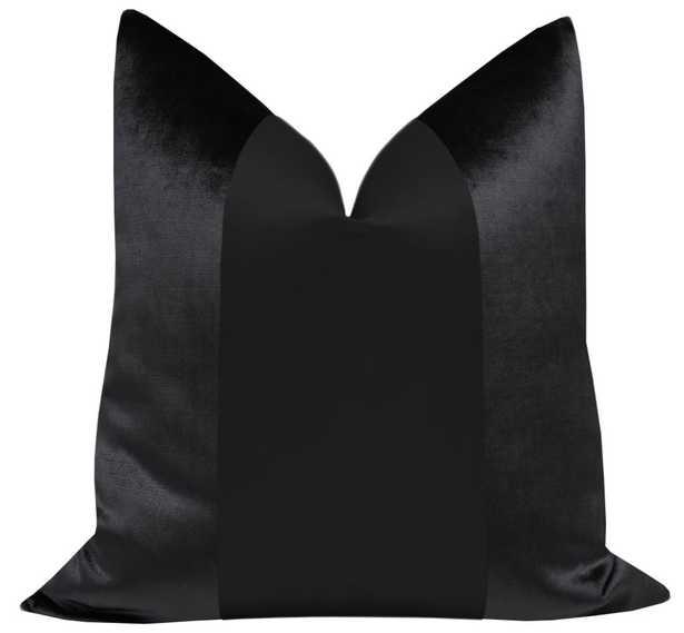 """PANEL :: Faux Silk Velvet // Noir - 18"""" X 18"""" - Little Design Company"""