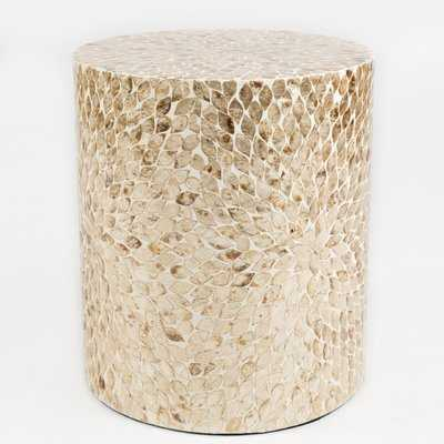 Autaugaville Round Shaped Capiz End Table - Wayfair