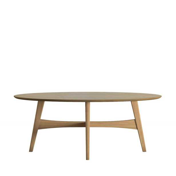 Calamar Natural Mid Century Oval Cocktail Table - Home Depot
