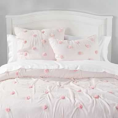 Crinkle Puff Quilt, Full/Queen, Powdered Blush - Pottery Barn Teen